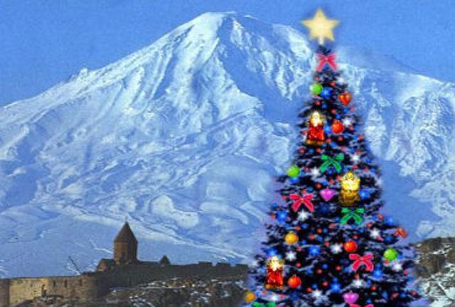 Армянские новогодТуристические открытки